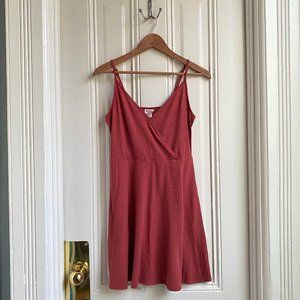 Mossimo Supply Co Pink Ribbed Summer Dress